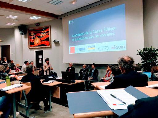 Inauguration de la chaire éthique et innovation de l'UCO avec alcuin