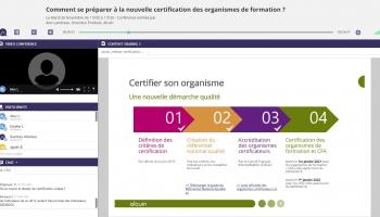 Webinar nouvelle certification qualité des organismes de formation