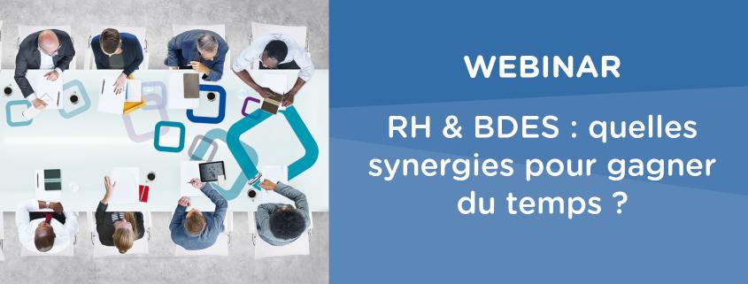 webinar logiciels RH et BDES : synergies et gains de temps